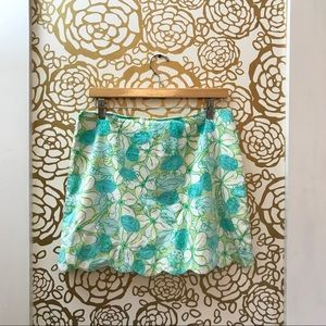 Lilly Pulitzer Crab Cake Multicolor Scallop Skirt